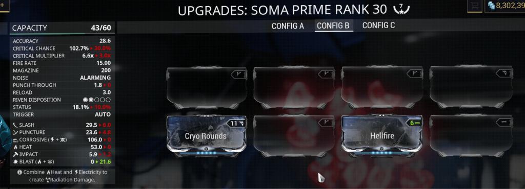 Hellfire + Cryo Rounds = Blast Damage