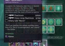 How To Get Python – Gambit Ritual Season of Dawn Destiny 2